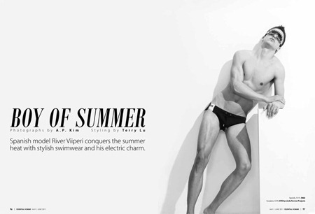 ESSENTIAL HOMME River Viiperi in Boy of Summer by A.P. Kim. May 2011, www.imageamplified.com, Image Amplified (3)