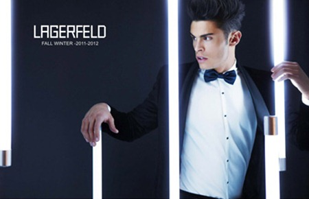 CAMPAIGN: Baptiste Giabiconi for Lagerfeld Fall 2011 by Karl Lagerfeld. www.imageamplified.com, Image Amplified