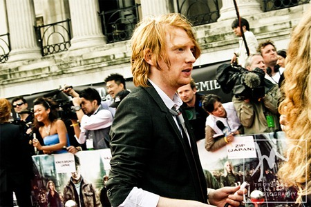 IA AT THE HARRY POTTER AND THE DEATHLY HALLOWS 2 PREMIERE IN LONDON: Photos of Domhnall Gleeson by Troy Wise. Rick G, www.imageamplified.com, Image Amplified