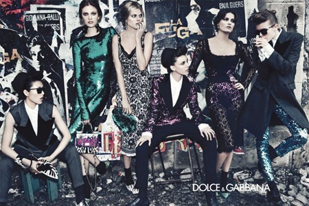 CAMPAIGN Liu Wen, Isabeli Fontana, Maryna Linchuk, Constance Jablonski, Jac Jagaciak & Kate King for Dolce & Gabbana Fall 2011 by Steven Klein. www.imageamplified.com, Image Amplified (1)