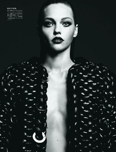VOGUE JAPAN Sasha Pivovarova in Tough Love by Hedi Slimane. August 2011, www.imageamplified.com, Image Amplified (7)