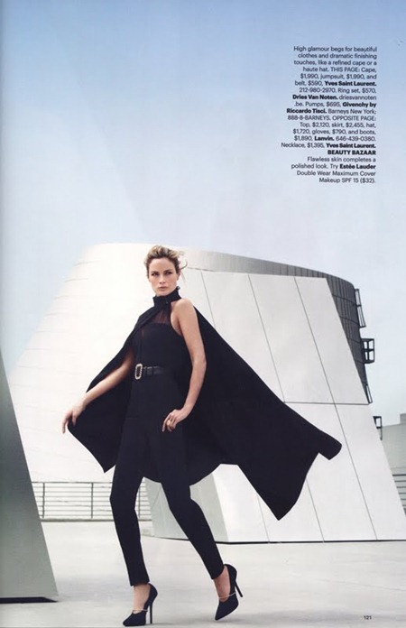 HARPER'S BAZAAR MAGAZINE Carolyn Murphy in The New Shapes by Tom Munro. August 2011, www.imageamplified.com, Image Amplified (4)