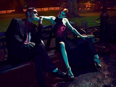 INTERVIEW MAGAZINE Saskia de Brauw & Marique Schimmel in Gucci by Mert & Marcus. Karl Templer, www.imageamplified.com, Image Amplified (3)
