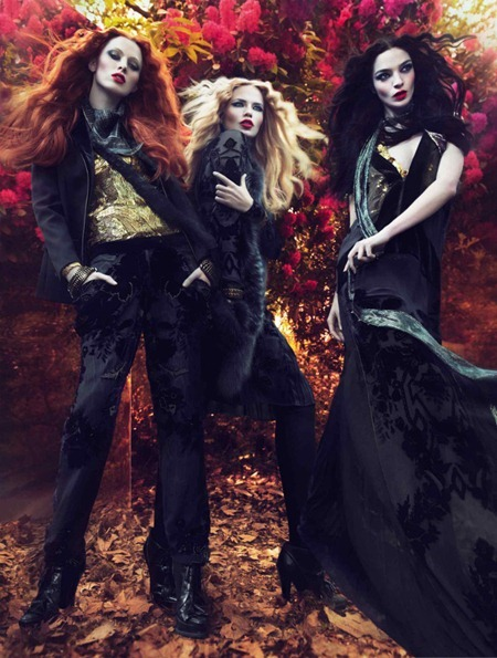 CAMPAIGN Mariacarla Boscono, Karen Elson & Natasha Poly for Roberto Cavalli Fall 2011 by Mert & Marcus. Panos Yiapanis, www.imageamplified.com, Image Amplified (1)