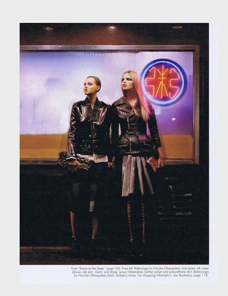 W MAGAZINE Lindsay Wixon & Daphne Groenveld in Scene on the Street by Alasdair McLellan. August 2011, Edward Enninful, www.imageamplified.com, Image Amplified (6)