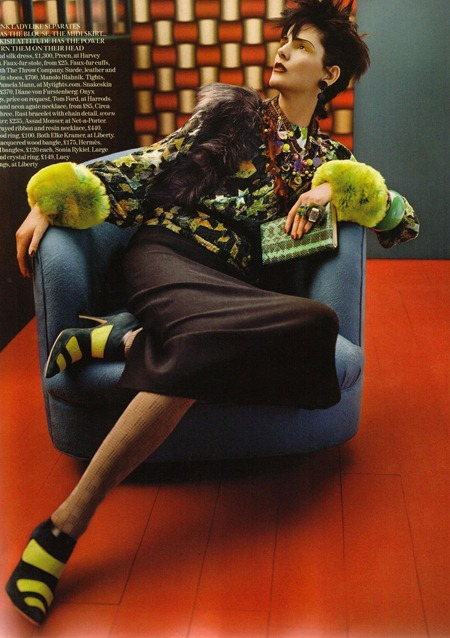 VOGUE UK Stella Tennant in Cultured Clash by Javier Vallhonrat. September 2011, Lucinda Chambers, www.imageamplified.com, Image Amplified (12)