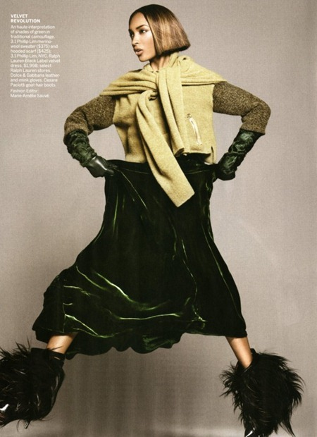 VOGUE MAGAZINE Jourdan Dunn in At Ease by David Sims. Marie-Amelie Sauve, September 2011, www.imageamplified.com, Image Amplified (6)