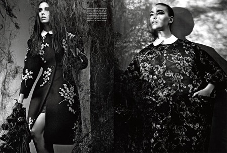 VOGUE ITALIA Ruby Aldridge & Arizona Muse in Chick-Gothic-Glam by Craig McDean. Tabitha Simmons, September 2011, www.imageamplified.com, Image Amplified (1)