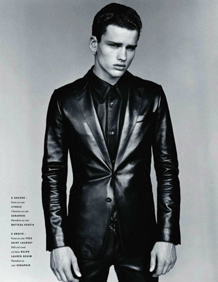 VOGUE HOMMES INTERNATIONAL Simon Nessman in Leather by Alasdair McLellan. Beat Bolliger, 2011, www.imageamplified.com, Image Amplified (4)