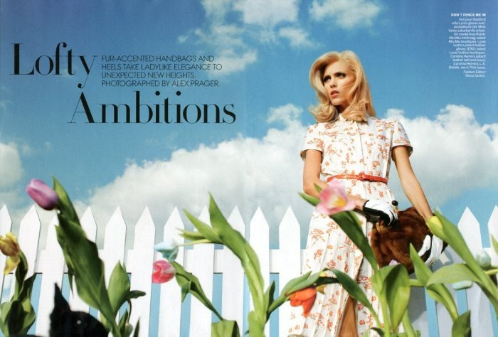 VOGUE MAGAZINE Anja Rubik in Lofty Ambitions by Alex Prager. Elissa Santisi, September 2011, www.imageamplified.com, Image Amplified (2)