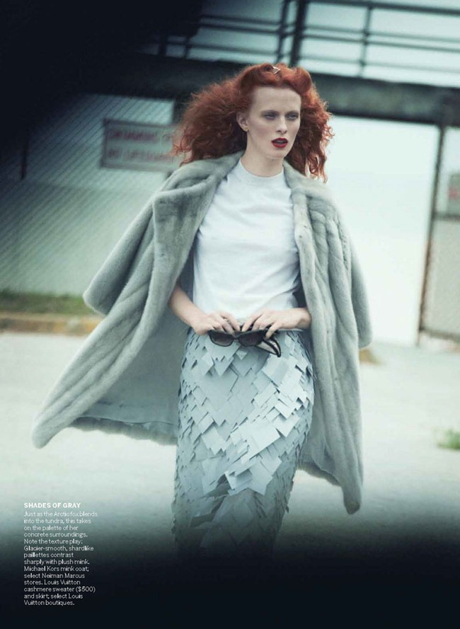 VOGUE MAGAZINE Karen Elson in A Winter's Pale by Peter Lindbergh. Grace Coddington, October 2011, www.imageamplified.com, Image Amplified (1)
