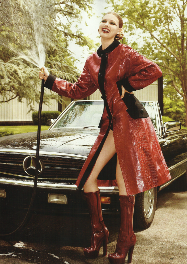 HARPER'S BAZAAR MAGAZINE Lindsey Wixon in Red Hot Fashion by Terry Richardson. Brana Wolf, October 2011, www.imageamplified.com, Image Amplified (1)