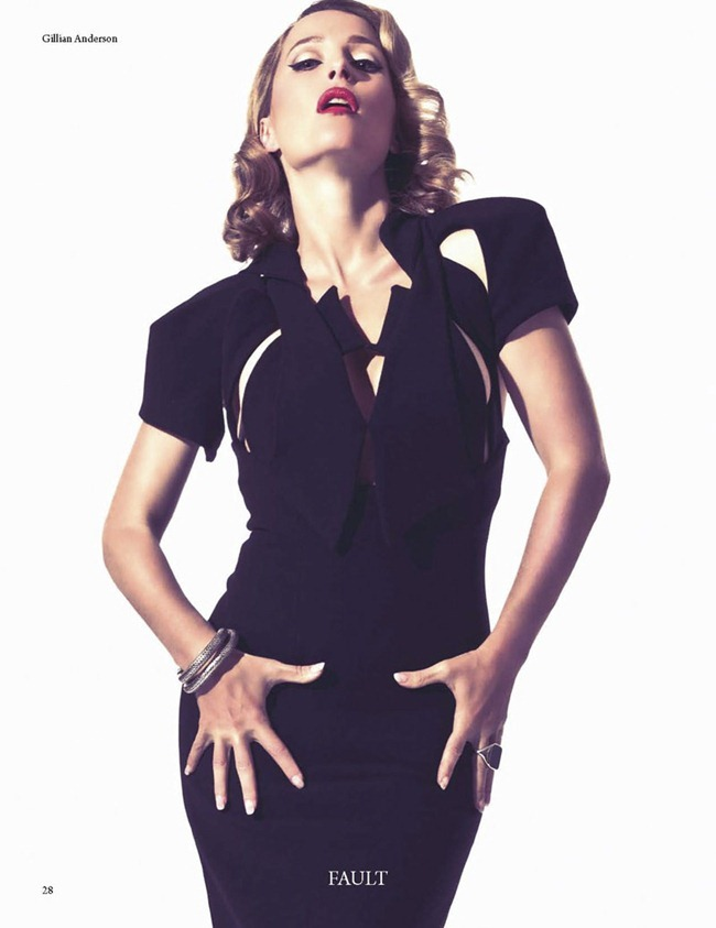 FAULT MAGAZINE Gillian Anderson by Squiz Hamilton. Claudia Behnke, Fall 2011, www.imageamplified.com, Image Amplified (7)