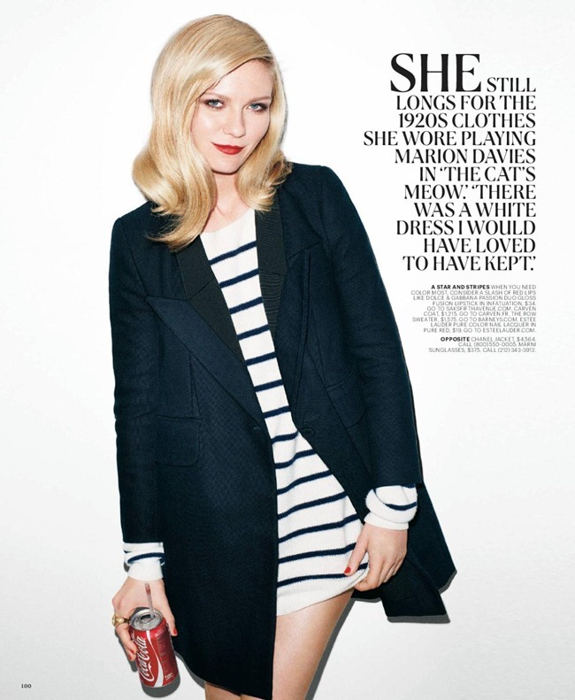 T STYLE MAGAZINE- Kirsten Dunst in &%Sixties Going on 30&% by Terry Richardson. Sarah Moonves, Fall 2011, www.imageamplified.com, Image Amplified5