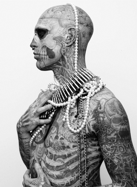 ARENA HOMME MAGAZINE Seth Kuhlmann, Brian Shimansky & Rick Genest in Anatomy of a Murder by Steven Klein. www.imageamplified.com, Image Amplified (16)
