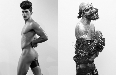 ARENA HOMME MAGAZINE Seth Kuhlmann, Brian Shimansky & Rick Genest in Anatomy of a Murder by Steven Klein. www.imageamplified.com, Image Amplified (8)