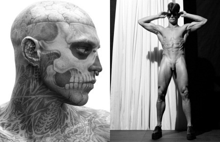 ARENA HOMME MAGAZINE Seth Kuhlmann, Brian Shimansky & Rick Genest in Anatomy of a Murder by Steven Klein. www.imageamplified.com, Image Amplified (9)