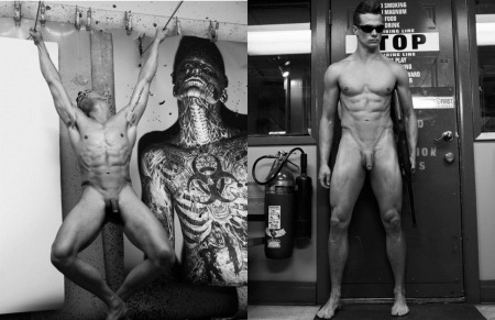 ARENA HOMME MAGAZINE Seth Kuhlmann, Brian Shimansky & Rick Genest in Anatomy of a Murder by Steven Klein. www.imageamplified.com, Image Amplified (11)
