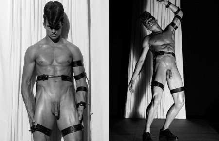 ARENA HOMME MAGAZINE Seth Kuhlmann, Brian Shimansky & Rick Genest in Anatomy of a Murder by Steven Klein. www.imageamplified.com, Image Amplified (13)