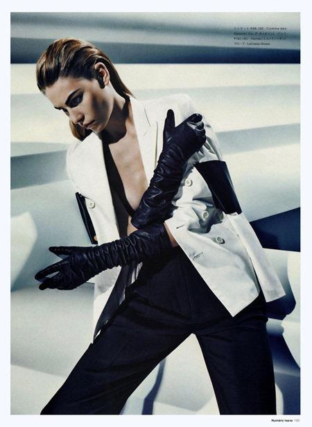 NUMERO TOKYO Aline Weber in Tuxedo Mademoiselle by Sebastian Kim. Sarah Ellison, June 2011, www.imageamplified.com, Image Amplified (6)