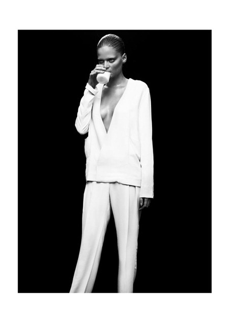 QVEST MAGAZINE Nathalia Oliveira in White Suit by Alvaro Beamud Cortes. Spring 2011, www.imageamplified.com, Image Amplified (1)