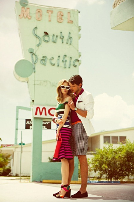 VOGUE HOMBRE Julia Dunstall & Andres Velencoso Segura in Miami Vintage by Alexander Neumann. Spring Summer 2011, Danny Santiago, www.imageamplified.com, Image Amplified (2)