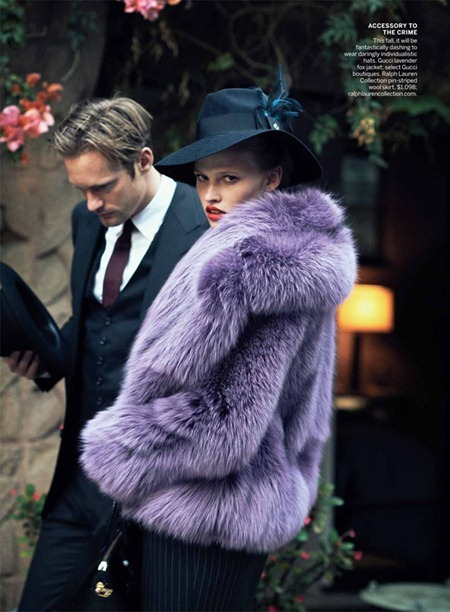 VOGUE MAGAZINE Lara Stone, Frida Gustavsson & Alexander Skarsgård in Spell Bound by Peter Lindbergh. Grace Coddington, July 2011, www.imageamplified.com, Image Amplified (2)