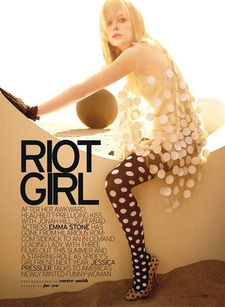 ELLE MAGAZINE Emma Stone in Riot Girl by Carter Smith. July 2011, Joe Zee, www.imageamplified.com, Image Amplified (4)