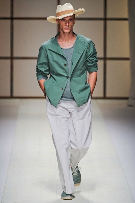 Picture About Male Model Salvatore Ferragamo for Milan Fashion Week Spring 2012