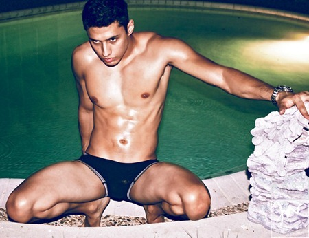 MASCULINE DOSAGE: Edgar Chavez in Pool Daze by Troy Wise. Rick G, www.imageamplified.com, Image Amplified