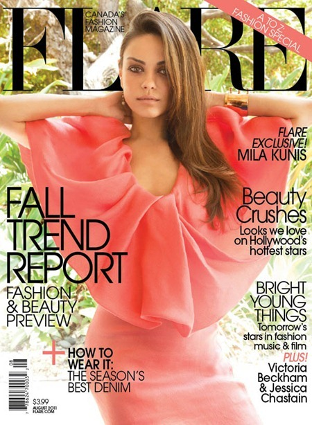 PREVIEW Mila Kunis for Flare, August 2011 by Tony Duran. Elizabeth Cabral, www.imageamplified.com, Image Amplified (2)