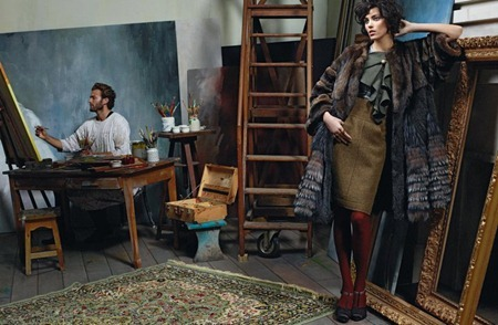 CAMPAIGN Anja Rubik & Brad Kroenig for Fendi Fall 2011 by Karl Lagerfeld. www.imageamplified.com, Image Amplified (13)