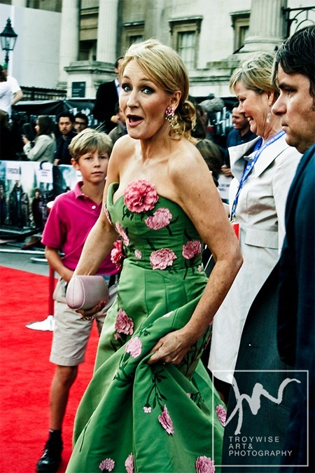 IA AT THE HARRY POTTER AND THE DEATHLY HALLOWS 2 PREMIERE IN LONDON: Photos of J.K. Rowling by Troy Wise. Rick G, www.imageamplified.com, Image Amplified