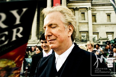 IA AT THE HARRY POTTER AND THE DEATHLY HALLOWS 2 PREMIERE IN LONDON: Photos of aLAN rICKMAN by Troy Wise. Rick G, www.imageamplified.com, Image Amplified