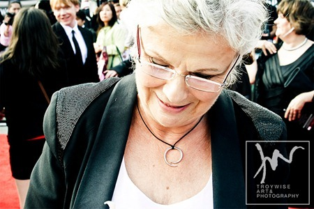 IA AT THE HARRY POTTER AND THE DEATHLY HALLOWS 2 PREMIERE IN LONDON: Photos of Julie Walters by Troy Wise. Rick G, www.imageamplified.com, Image Amplified