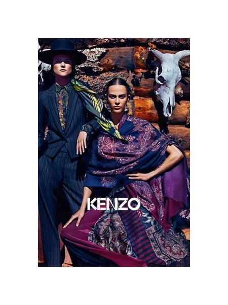 CAMPAIGN Aymeline Valade & Kasia Struss for Kenzo Fall 2011 by Mario Sorrenti. www.imageamplified.com, Image Amplified
