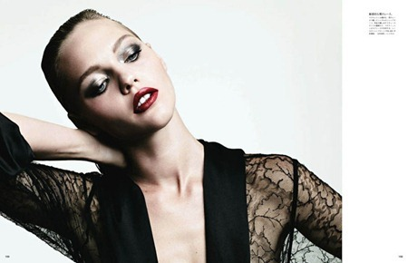 VOGUE JAPAN Sasha Pivovarova in Tough Love by Hedi Slimane. August 2011, www.imageamplified.com, Image Amplified (5)