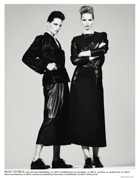 VOGUE GERMANY Iris Strubegger & Katrin Thormann by Gregory Harris. Christine Arp, Nicola Knels, August 2011, www.imageamplified.com, Image Amplified (2)