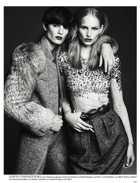 VOGUE GERMANY Iris Strubegger & Katrin Thormann by Gregory Harris. Christine Arp, Nicola Knels, August 2011, www.imageamplified.com, Image Amplified (8)