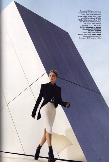 HARPER'S BAZAAR MAGAZINE Carolyn Murphy in The New Shapes by Tom Munro. August 2011, www.imageamplified.com, Image Amplified (6)
