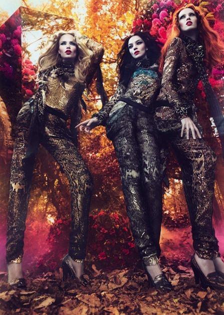 CAMPAIGN Mariacarla Boscono, Karen Elson & Natasha Poly for Roberto Cavalli Fall 2011 by Mert & Marcus. Panos Yiapanis, www.imageamplified.com, Image Amplified (2)
