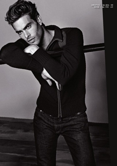 CAMPAIGN Jon Kortajarena for Armani Jeans Fall 2011. www.imageamplified.com, Image Amplified (1)