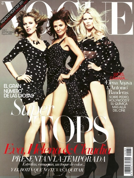 VOGUE SPAIN Claudia Schiffer in Claudia by Tom Munro. Belen Antolin, September 2011, www.imageamplified.com, Image Amplified