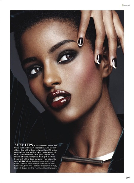 FLARE MAGAZINE Senait & Emily van Raay in Strictly Speaking by Christ Nicholls. September 2011, www.imageamplified.com, Image Amplified (2)