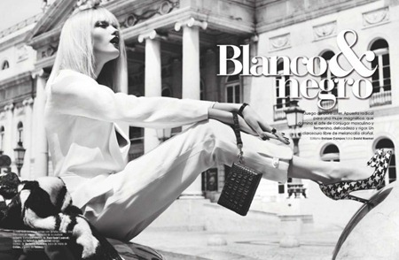 MARIE CLAIRE SPAIN Vlada Roslyakova in Blanco y Negro by David Roemer. September 2011, Enrique Campos, www.imageamplified.com, Image Amplified (2)