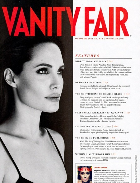 VANITY FAIR MAGAZINE Angelina Jolie in Direct from Angelina by Mert & Marcus. October 2011, www.imageamplified.com, Image Amplified (3)