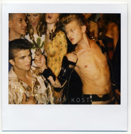 FASHION PHOTOGRAPHY River Viiperi, Sebastian Sauve & Travis Cannata Backstage at Jeremy Scott by Jeremy Kost. www.imageamplified.com, Image Amplified (3)