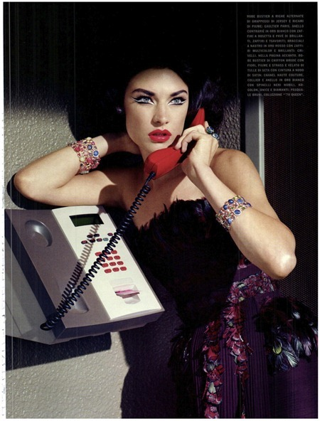 VOGUE ITALIA Jacquelyn Jablonski in Extravagant, Sophisticated Lady by Miles Aldridge. Alice Gentilucci, September 2011, www.imageamplified.com, Image Amplified (19)