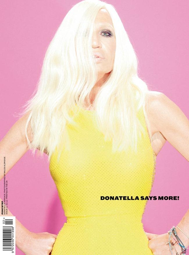 PREVIEW Donatella Versace, Elvira & Dame Edna for Ponystep #2, Fall 2011 by MIles Aldridge, Matt Irwin & Alice Hawkins. www.imageamplified.com, Image Amplified (1)