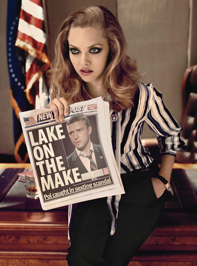 W MAGAZINE Justin Timberlake & Amanda Seyfried by Michael Thompson. October 2011, www.imageamplified.com, Image Amplified